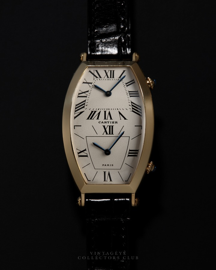 CARTIER@1990s Tonneau Dual Time 088